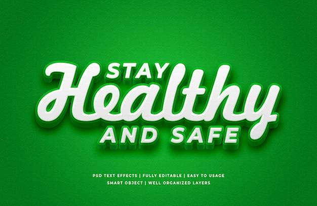 Restez sain et sûr