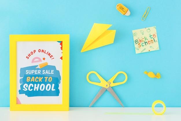 Retour à la conception de bannière super vente école