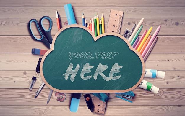 Retour à l'école chalkboard cloud