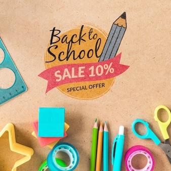 Retour à la vente de l'école avec 10% de réduction