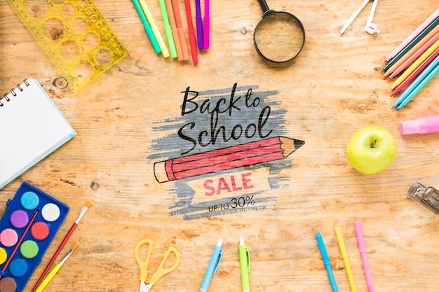 Retour à la vente de l'école avec 30% de réduction