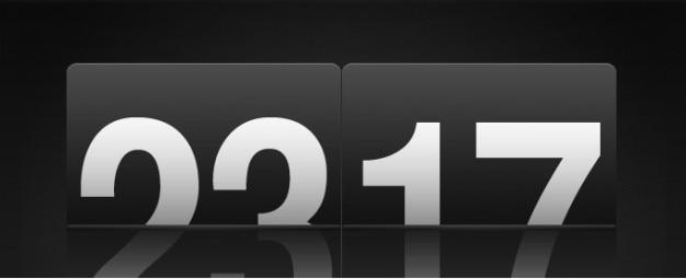 Rétro icône flip clock