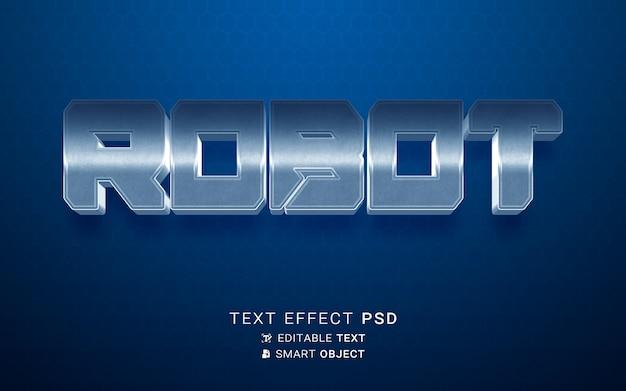 Robot à effet de texte