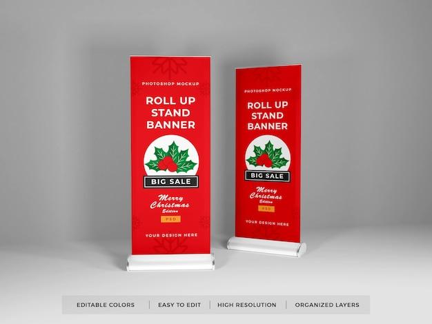 Roll up banner mockup design isolé