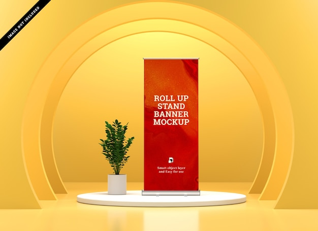 Roll up banner stand maquette