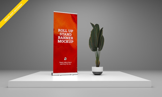 Roll up banner stand pour maquette