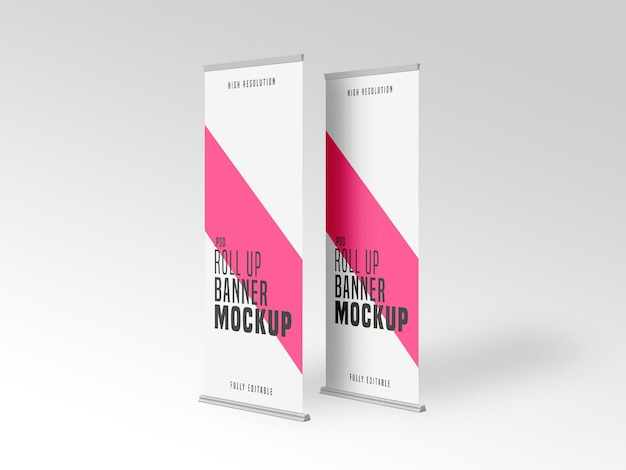 Roll up banner stands maquette