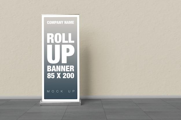 Rollup mockup on wall