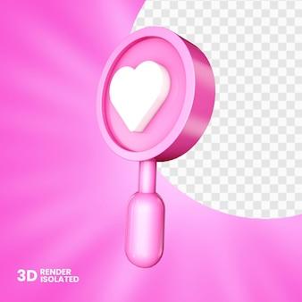 Rose Comme 3d Isolé PSD Premium