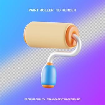 Rouleau de peinture 3d illustration isolé