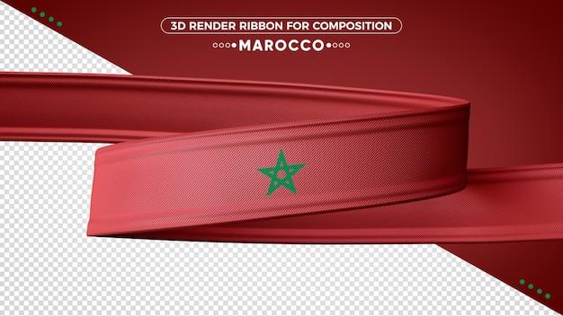 Ruban de rendu 3d maroc pour la composition