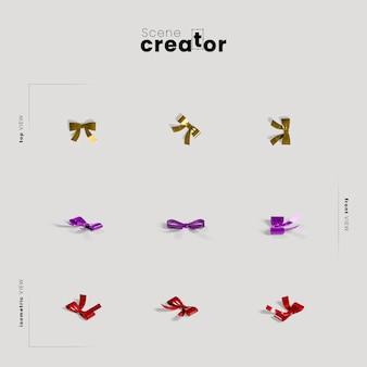Rubans variété angles créateur de scène de noël
