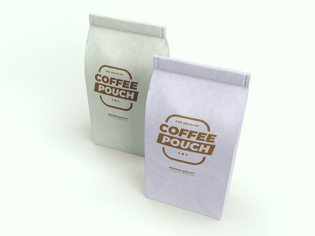 Sac à café et maquette de tasse