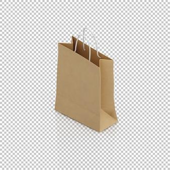 Sac en papier isométrique