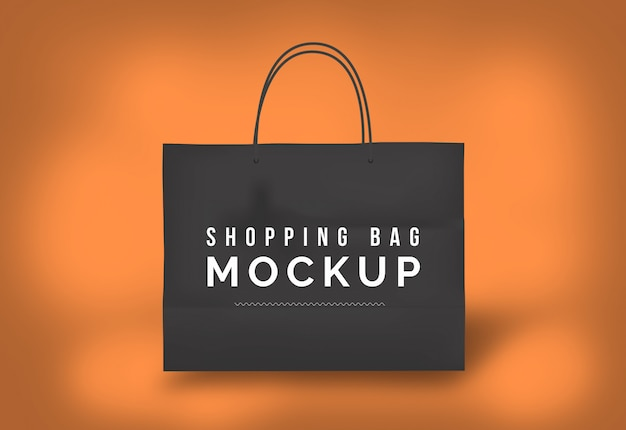 Sac de papier sac de papier maquette sac de shopping noir