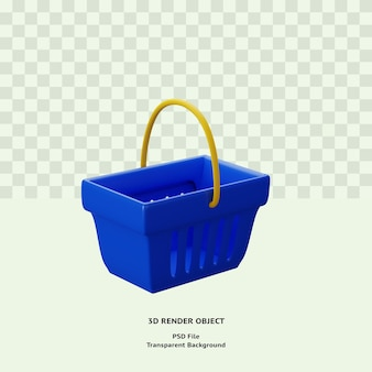 Sac shopping 3d illustration icône objet rendu premium psd