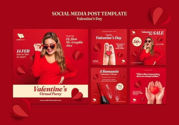 Saint valentin instagram posts