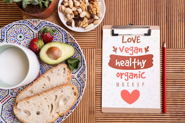 Salades et aliments sains