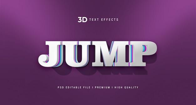 Sauter la maquette d'effet de style de texte 3d