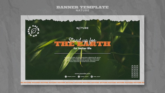 Sauvez la bannière horizontale de la nature
