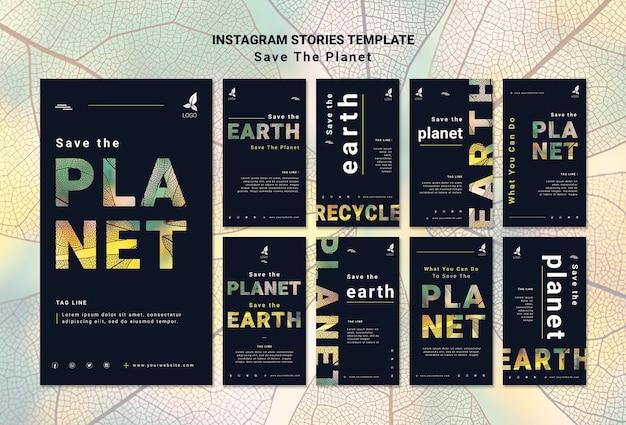 Sauvez les histoires instagram de la terre
