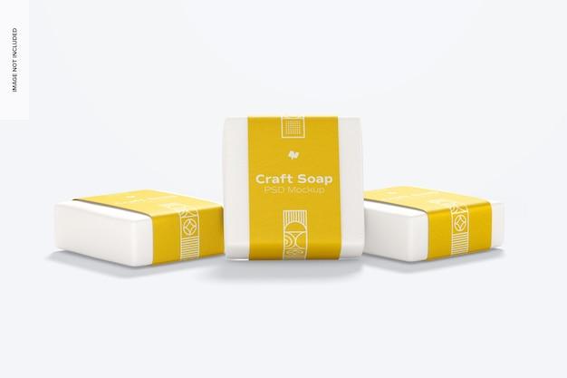 Savons artisanaux avec maquette d'étiquette