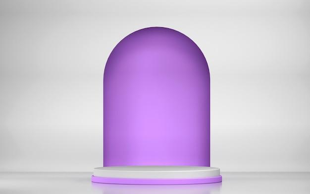 Scène abstraite et podium pour l'affichage du produit avec des formes géométriques