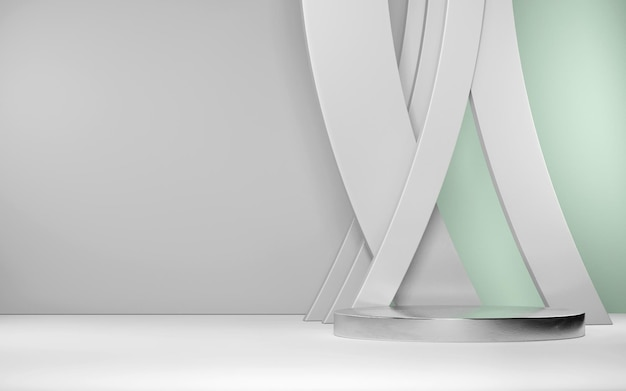 Scène abstraite pour l'affichage du produit avec des formes géométriques