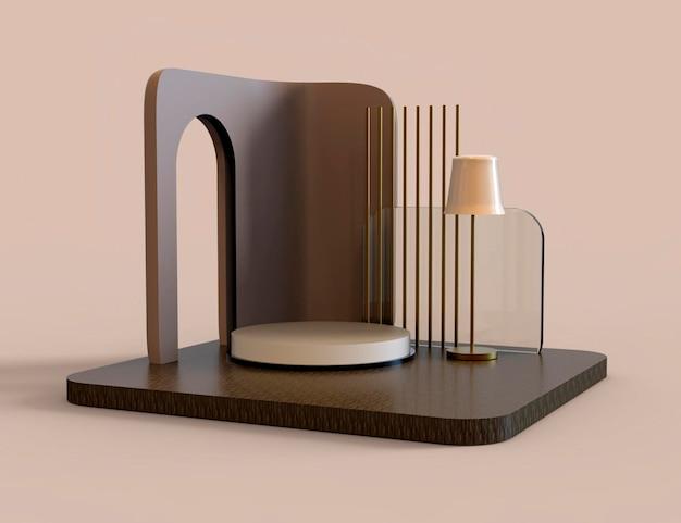 Scène abstraite pour l'affichage. rendu 3d