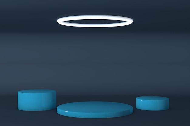 Scène de fond abstrait pour le rendu d'affichage du produit