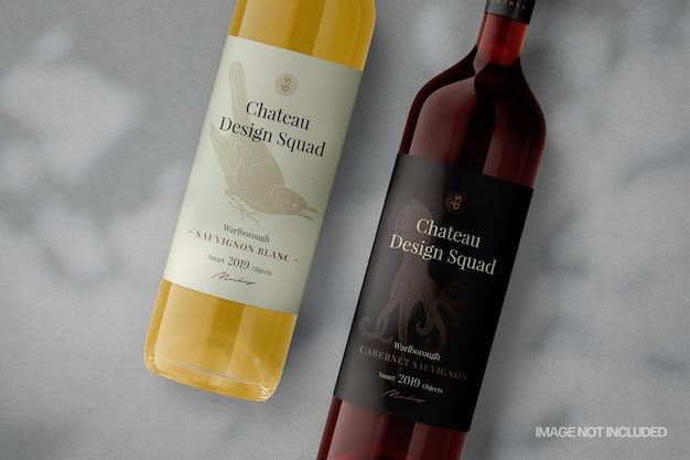 Scène de maquette de bouteilles de vin mobiles