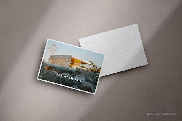 Scène de maquette de cartes postales empilées