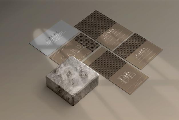 Scène de maquette de cartes