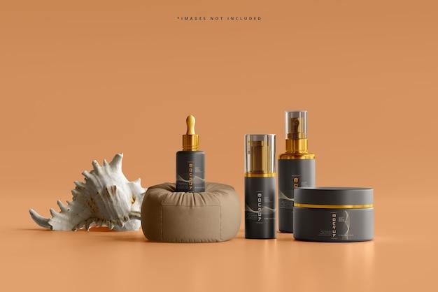 Scène de maquette de marque cosmétique