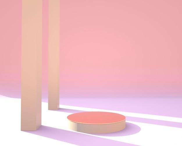 Scène minimale avec conception de formes géométriques