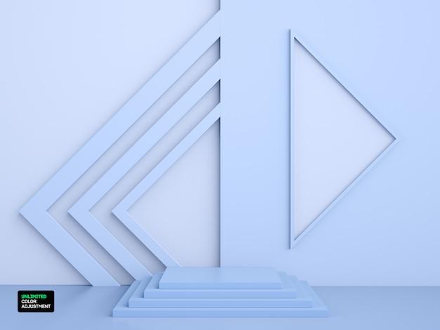 Scène ou scène géométrique 3d pour le placement de produit