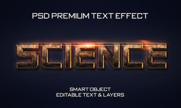 Science scifi text effect design