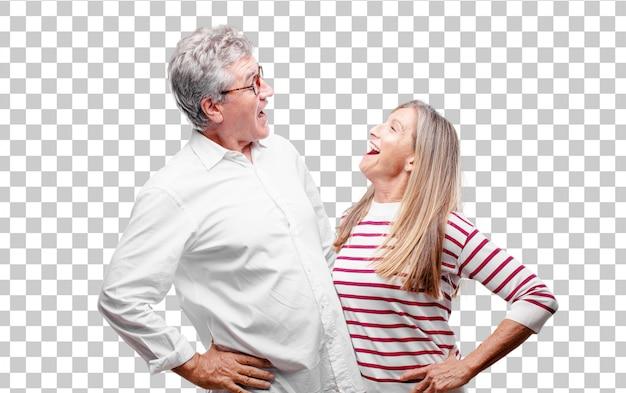 Senior cool mari et femme à la recherche de peu enthousiaste et ennuyé