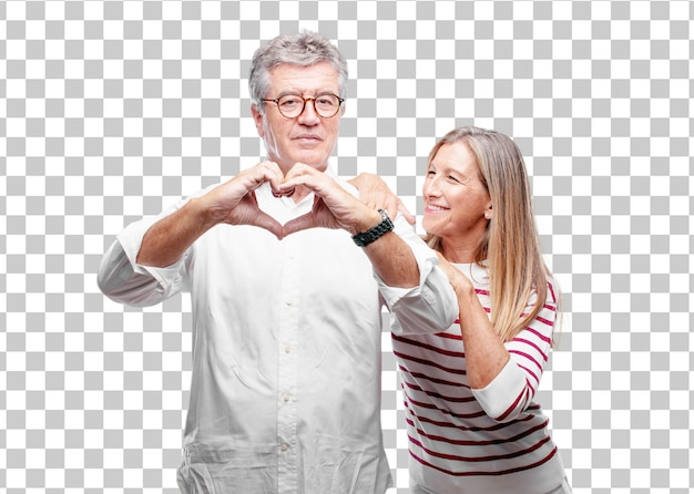 Senior mari et femme souriants
