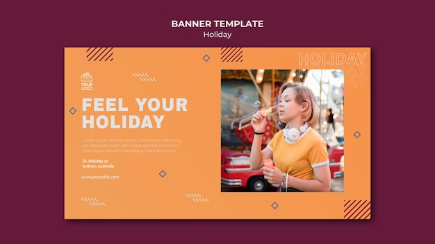Sentez le modèle de bannière de vacances