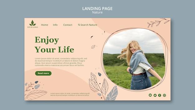 Sentez Le Modèle De Page De Destination De La Nature Psd gratuit