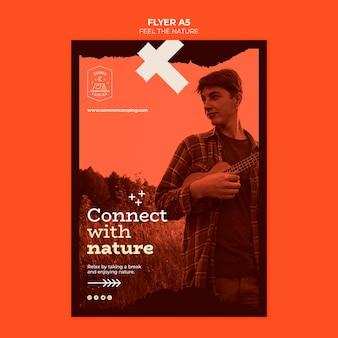 Sentez-vous La Conception De Flyer Nature Psd gratuit
