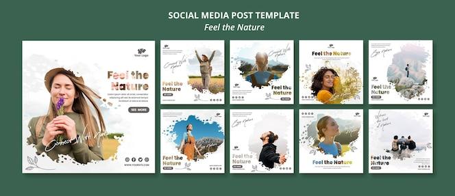 Sentez-vous le modèle de publication instagram nature
