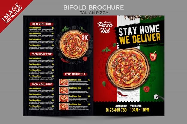 Série de modèles de brochures de pizza italienne à deux volets