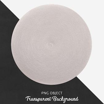 Service rond en osier transparent et gris clair