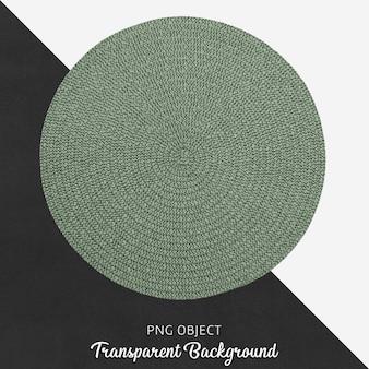 Service textile vert rond sur fond transparent