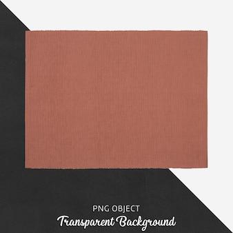 Service de tissu rouge brique transparent
