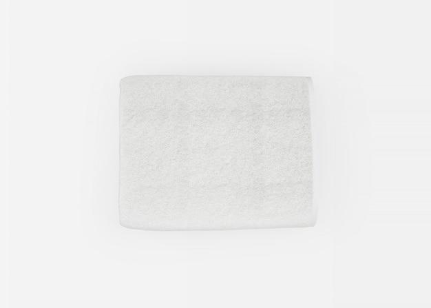 Serviette sur blanc