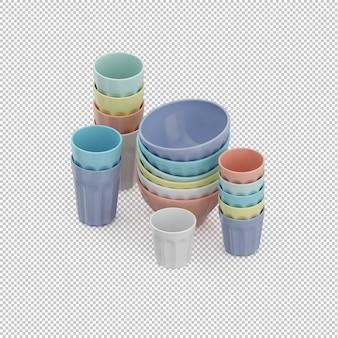 Set de tasse isométrique