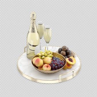 Shampange aux fruits et bonbons